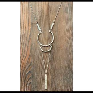 Spirit &Soul Silver Drop Chain Necklace
